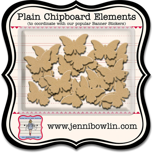 Jenni Bowlin Studio - Chipboard Shapes - Butterfly