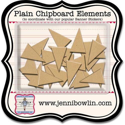 Jenni Bowlin Studio - Chipboard Shapes - Banner, CLEARANCE