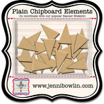 Jenni Bowlin Studio - Chipboard Shapes - Banner, CLEARANCE