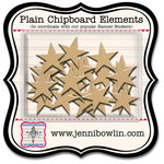 Jenni Bowlin Studio - Chipboard Shapes - Star