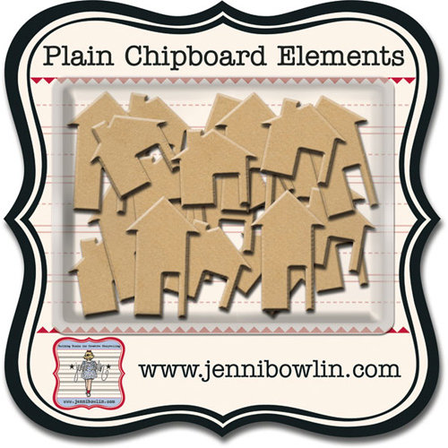 Jenni Bowlin - Chipboard Shapes - Houses