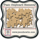 Jenni Bowlin - Chipboard Shapes - Houses