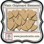 Jenni Bowlin - Chipboard Shapes - Hearts