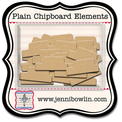 Jenni Bowlin Studio - Chipboard Shapes - Tiny Tabs