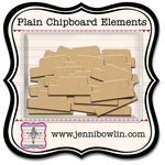 Jenni Bowlin Studio - Chipboard Shapes - Tiny Tabs