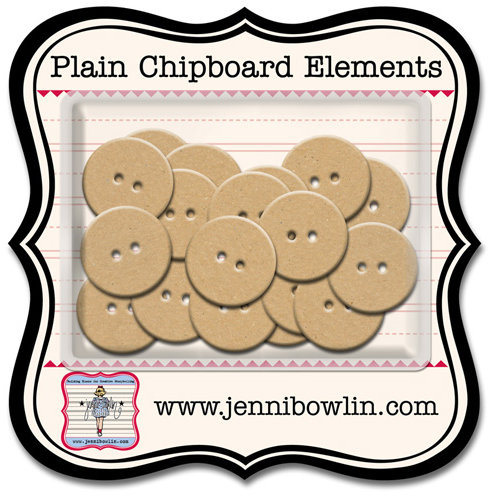 Jenni Bowlin Studio - Chipboard Shapes - Buttons