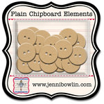 Jenni Bowlin Studio - Chipboard Shapes - Buttons