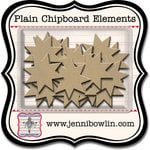 Jenni Bowlin Studio - Chipboard Shapes - Quilt Stars