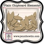 Jenni Bowlin Studio - Chipboard Shapes - Graphic Feather