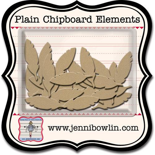 Jenni Bowlin Studio - Chipboard Shapes - Cut Feather