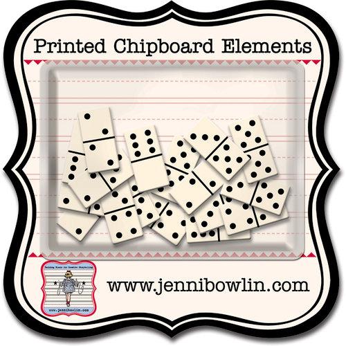 Jenni Bowlin Studio - Printed Chipboard Shapes - Dominoes