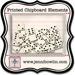 Jenni Bowlin Studio - Printed Chipboard Shapes - Dominoes