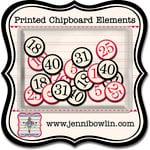 Jenni Bowlin Studio - Printed Chipboard Shapes - Bingo Numbers