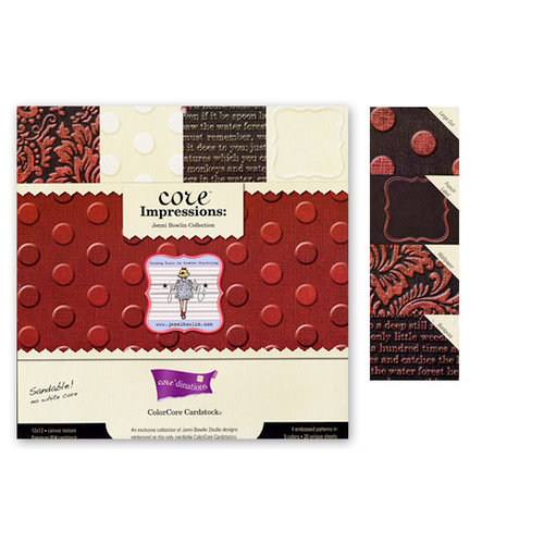 Jenni Bowlin Studio - Core'dinations Core Impressions - 12 x 12 Embossed Cardstock Pack