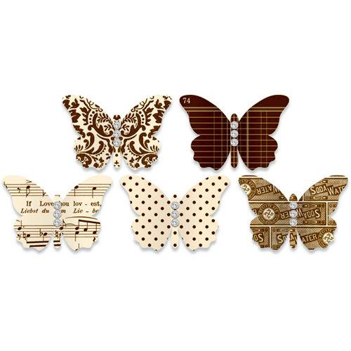 Jenni Bowlin Studio - Jewel Embellished Butterflies - Brown