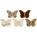 Jenni Bowlin Studio - Jewel Embellished Butterflies - Brown