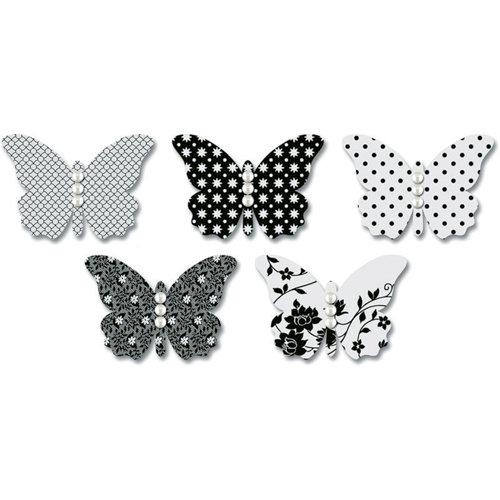Jenni Bowlin Studio - Vellum Embellished Butterflies with Jewels - Black, CLEARANCE