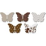 Jenni Bowlin Studio - Vellum Embellished Butterflies with Jewels - Brown, CLEARANCE