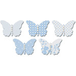 Jenni Bowlin Studio - Vellum Embellished Butterflies with Jewels - Blue, CLEARANCE