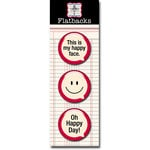 Jenni Bowlin Studio - Flatbacks - Speech Bubbles - Happy