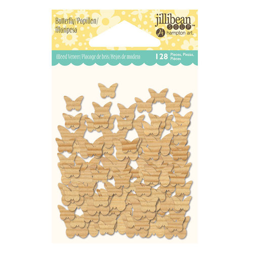 Jillibean Soup - Shaker Wood Veneer Pieces - Butterflies