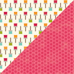 Jillibean Soup - Shades of Color Collection - 12 x 12 Double Sided Paper - Happy Hue