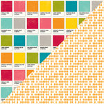 Jillibean Soup - Shades of Color Collection - 12 x 12 Double Sided Paper - Cool Cast