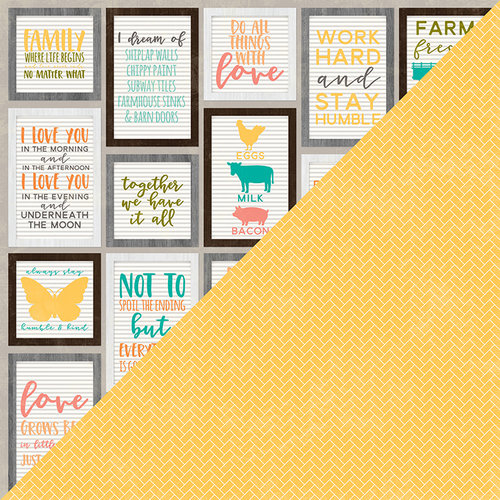 Jillibean Soup - Farmhouse Stew Collection - 12 x 12 Double Sided Paper - Goodness Gracious