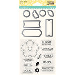 Jillibean Soup - Shaker Die and Clear Acrylic Stamp Set - Flower Bloom