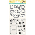 Jillibean Soup - Shaker Die and Clear Acrylic Stamp Set - Jar Goodness