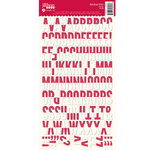 Jillibean Soup - Alphabeans Collection - Alphabet Cardstock Stickers - Rosy Dot