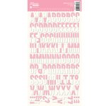 Jillibean Soup - Alphabeans Collection - Alphabet Cardstock Stickers - Pink Diagonal