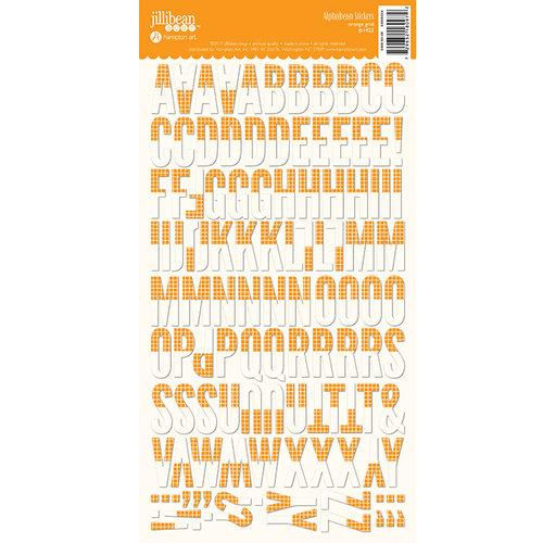 Jillibean Soup - Alphabeans Collection - Alphabet Cardstock Stickers - Orange Grid