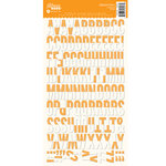 Jillibean Soup - Alphabeans Collection - Alphabet Cardstock Stickers - Orange Grid