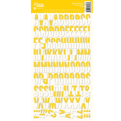 Jillibean Soup - Alphabeans Collection - Alphabet Cardstock Stickers - Yellow Chevron