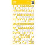 Jillibean Soup - Alphabeans Collection - Alphabet Cardstock Stickers - Yellow Chevron