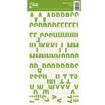 Jillibean Soup - Alphabeans Collection - Alphabet Cardstock Stickers - Green Dot