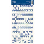Jillibean Soup - Alphabeans Collection - Alphabet Cardstock Stickers - Navy Diagonal
