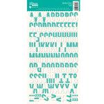 Jillibean Soup - Alphabeans Collection - Alphabet Cardstock Stickers - Teal Grid