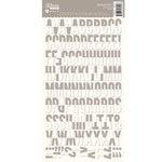 Jillibean Soup - Alphabeans Collection - Alphabet Cardstock Stickers - Grey Chevron