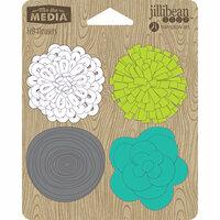 Jillibean Soup - Felt Flowers - Lots of Lime