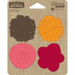 Jillibean Soup - Felt Flowers - Shades of Red