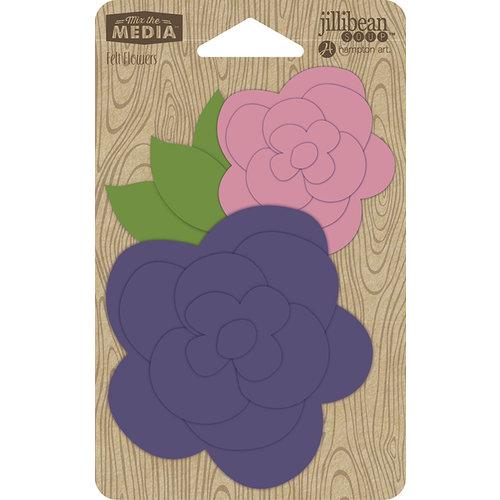 Jillibean Soup - Felt Flowers - Pocket of Purple