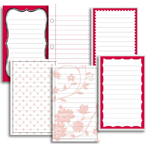 Jenni Bowlin Studio - Vintage Collection - Journaling Cards - Red, CLEARANCE