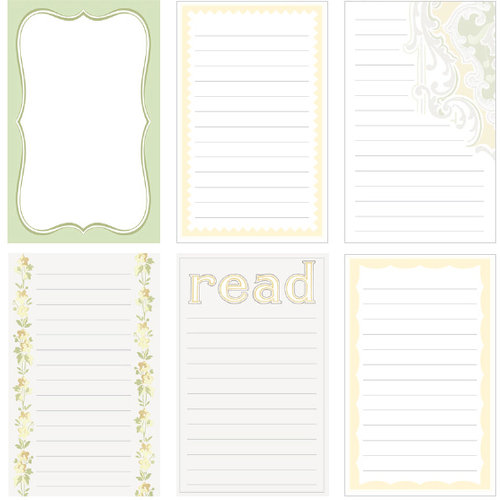 Jenni Bowlin Studio - Victoria Collection - Journaling Cards, CLEARANCE