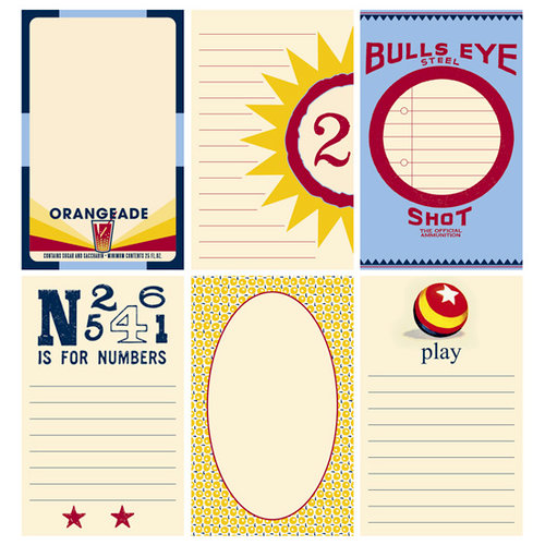 Jenni Bowlin Studio - Play Date Collection - Journaling Cards, CLEARANCE