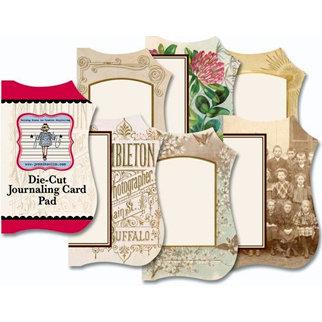 Jenni Bowlin Studio - Mini Die Cut Journaling Card Pad - Vintage 1