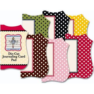 Jenni Bowlin Studio - Mini Die Cut Journaling Card Pad - Polka Dots