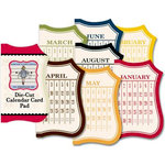 Jenni Bowlin Studio - Mini Die Cut Paper Pad - Calendar