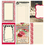 Jenni Bowlin Studio - Red and Black III Collection - Journaling Cards